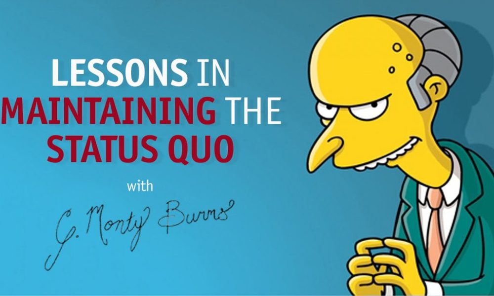 Lessons In Maintaining The Status Quo